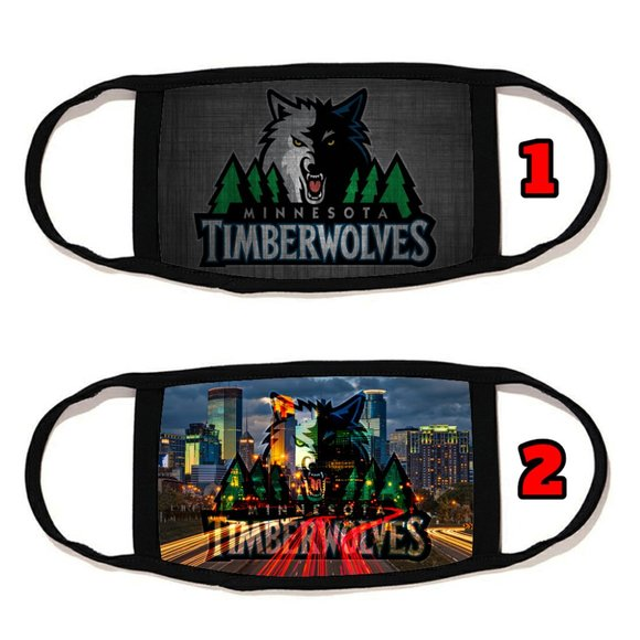 2 PACKS Minnesota Timberwolves face mask cover